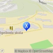 Karta Saltsjöbadens Hårvård Saltsjöbaden, Sverige