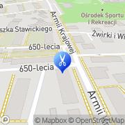 Mapa Fryzjerstwo Turek, Polska