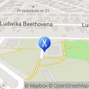 Mapa Pietrzak Renata. Fryzjerstwo Gdańsk, Polska