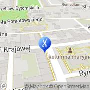 Mapa Fryzjerstwo Pyskowice, Polska