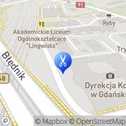 Mapa Pietrzak Elżbieta. Fryzjerstwo Gdańsk, Polska