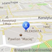 Mapa Czugaj Irena. Fryzjerstwo Toruń, Polska