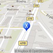 Mapa Fryzjerstwo Gać, Polska