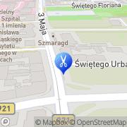 Mapa Fryzjerstwo Zabrze, Polska
