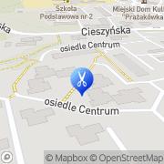 Mapa Fryzjerstwo Ustroń, Polska
