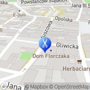 Mapa Fryzjerstwo Tarnowskie Góry, Polska