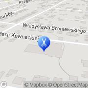 Mapa Fryzjerstwo Mikołów, Polska