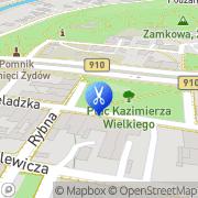 Mapa Fryzjerstwo Będzin, Polska