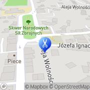 Mapa Sołowij Joanna. Fryzjerstwo Żywiec, Polska