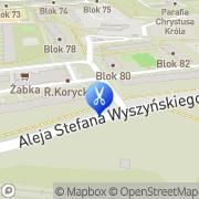 Mapa Fryzjerstwo Łódź, Polska