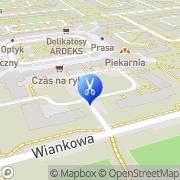 Mapa Nowak A. Fryzjerstwo Łódź, Polska