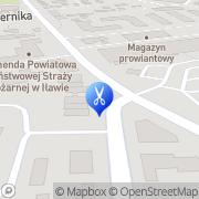 Mapa Fryzjerstwo Iława, Polska