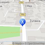 Mapa Gołębiowska Anna. Fryzjerstwo Wolbrom, Polska