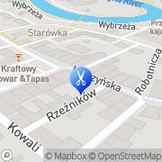 Mapa Zadrożny Zdzisław. Fryzjerstwo Bartoszyce, Polska