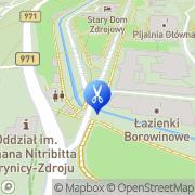 Mapa Fryzjerstwo Krynica, Polska