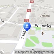 Mapa Piwowarczyk Czesława. Fryzjerstwo Szczucin, Polska