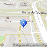 Mapa Fryzjerstwo Warszawa, Polska