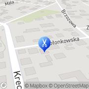 Mapa Fryzjerstwo Kobyłka, Polska