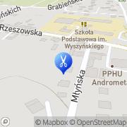 Mapa Fryzjerstwo Czudec, Polska