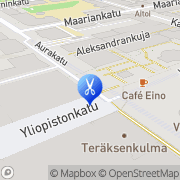 Kartta Kauneushuone Kiraffi Turku, Suomi