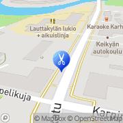 Kartta Kauneus- ja Terveyshoitola Kariniemi Seija Huittinen, Suomi