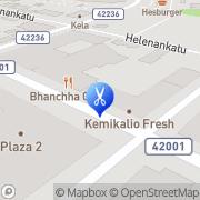 Kartta Kauneushoitola Kiviaho Melita Salo, Suomi