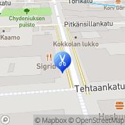 Kartta Kosmetologinen erikoishoitola Salong Silja Kokkola, Suomi