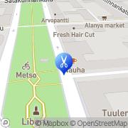 Kartta Kauneushoitola Kastehelmi Tampere, Suomi