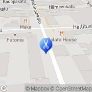 Kartta Parturi-Kampaamo Kauneushoitola Atic Tampere, Suomi