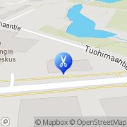 Kartta Parturi-Kampaamo Oranssikulma Kiiminki, Suomi