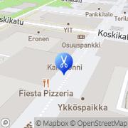 Kartta Kauneushoitola NiinKaunis Joensuu, Suomi
