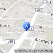 Karte Alex-Hand auf's Haar Altach, Österreich