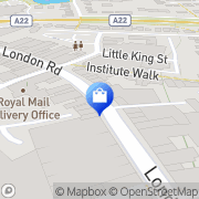 Map Clarks Shoes East Grinstead, United Kingdom