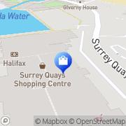 Map JD Sports Surrey Quays, United Kingdom