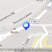 Map Clarks Shoes Palmers Green, United Kingdom