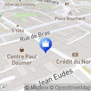 Carte de Projection Caen, France