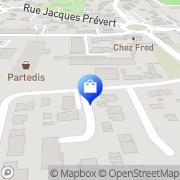 Carte de Satex France Mérignac, France