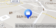 Map B&M Store Northamptonshire, United Kingdom