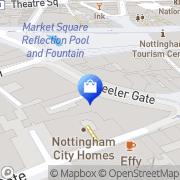 Map Clarks Shoes Nottingham, United Kingdom
