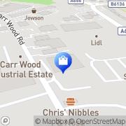 Map Clarks Shoes - Factory Shop Castleford, United Kingdom