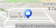 Map Blush and Blue Bridal Aurora, United States