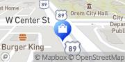 Map serving customers Orem, United States