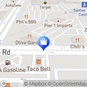 Map Target Santee, United States