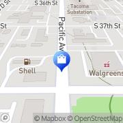 Map Walgreens Tacoma, United States