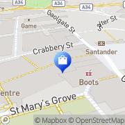 Map Clarks Shoes Stafford, United Kingdom