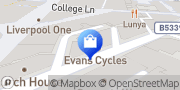Map Evans Cycles Liverpool, United Kingdom