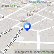Map Mamblona Madrid, Spain