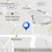 Map Clarks Shoes Carmarthen, United Kingdom