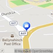 Map Pianta Bride  Ballynahinch, United Kingdom