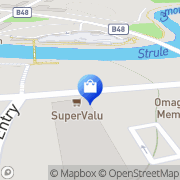 Map Clarks Shoes Omagh, United Kingdom